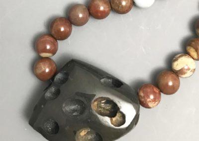 Basalt with rhyolite beads